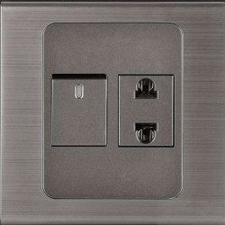CLOPAL STEEL INSPIRE 1SWITCHES 1SOCKET