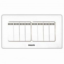 PHILIPS ECO Q2 EIGHT GANG SWITCH