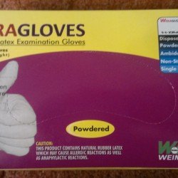 Wera Gloves Latex Examination Gloves Powdered