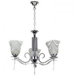 Luci Del Sole Crystal Decorative Silver Chandelier - LDS61105-3CH