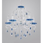 TINKO Chandelier Crystal Light 38046 Silver Blue Crystal