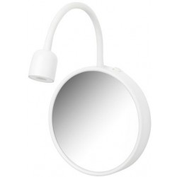 Wall Lamp with Mirror, White
