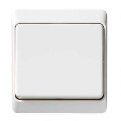 Flush Switch 1 Gang 1 Way White Pieno Schneider