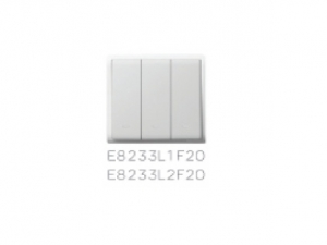 Schneider Flush Switches 2Gang 1Way White E8232L1F20