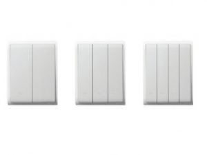 Schneider Flush Switches 4Gang 2Way White E8234L2F