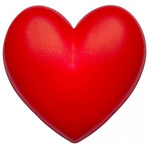 Kids Room Wall Lamp Red Heart Shape