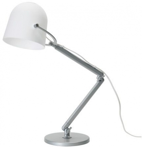 Table Lamp, Adjustable, White