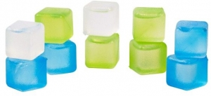 Set of 10 Reusable Ice Cubes by rove