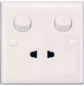 Schneider 10Amp 2pin Universal Switch Socket  E15U