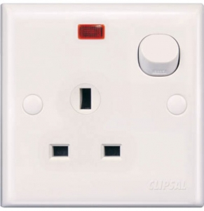 Schneider 13Amp Switch Socket With Neon E15N