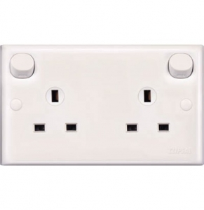 Schneider 13Amp Duplex Switch Socket With Clean Earth E25CE